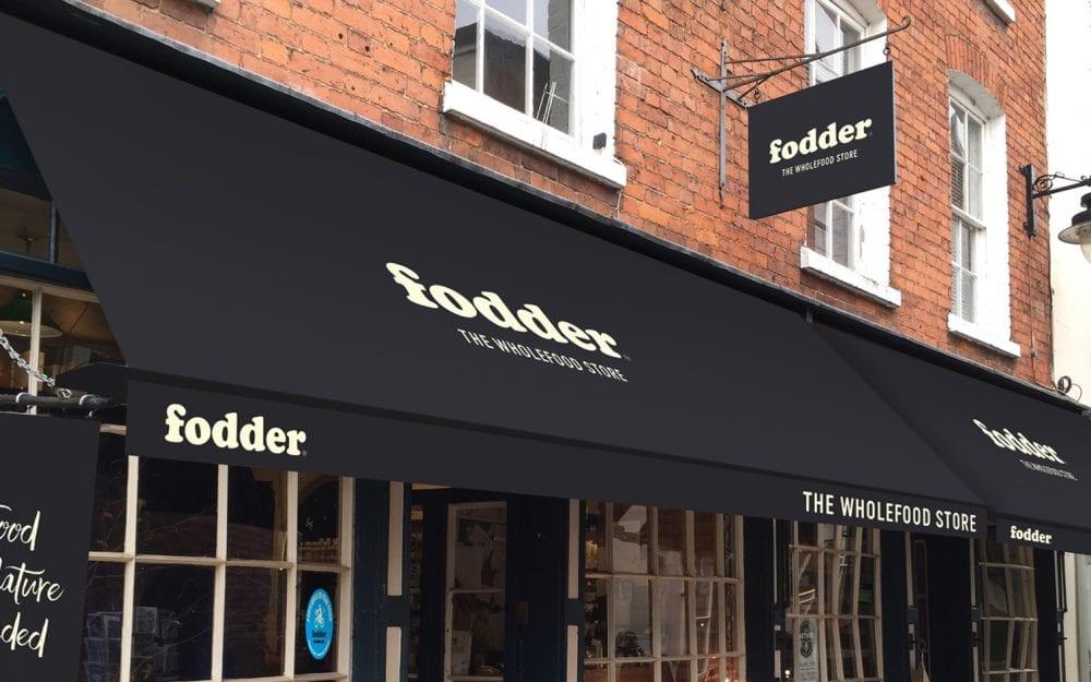 Shop front design Fodder Wholefoods Hereford